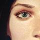 Blue eyed brunette