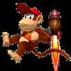 Diddy Kong rocket