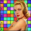 Grace Kelly - rainbow squares