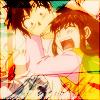 Megumi holding onto Kiyo