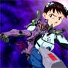 Purple EVA and Shinji