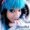 blue emo girl beautiful