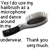 dance hairbrush avatar