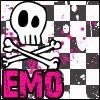 dark pink emo