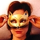 gold cat mask